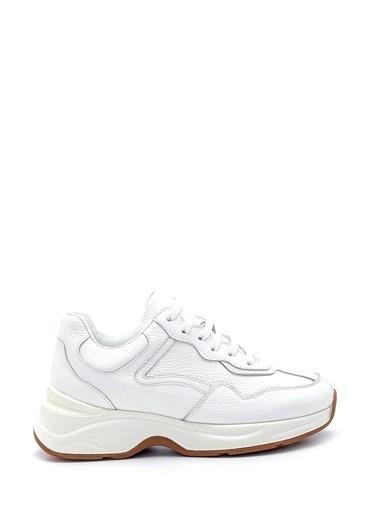 Derimod Kadın Deri Sneaker Beyaz